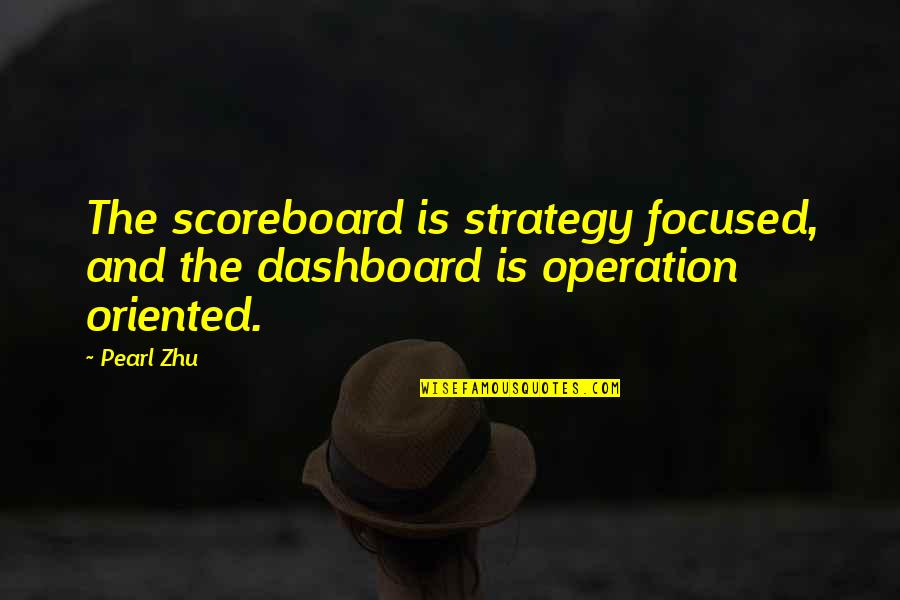 Oriented Quotes By Pearl Zhu: The scoreboard is strategy focused, and the dashboard