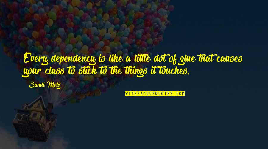Oriented Quotes By Sandi Metz: Every dependency is like a little dot of