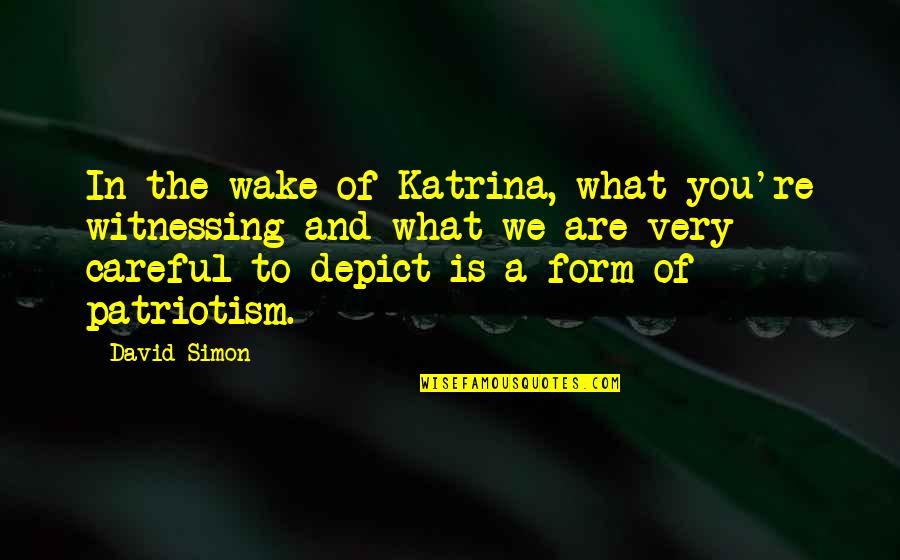 Orvo Quotes By David Simon: In the wake of Katrina, what you're witnessing