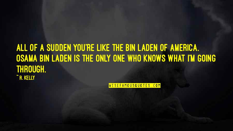 Osama Bin Laden Quotes By R. Kelly: All of a sudden you're like the Bin