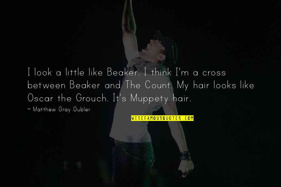 Oscar Grouch Quotes By Matthew Gray Gubler: I look a little like Beaker. I think