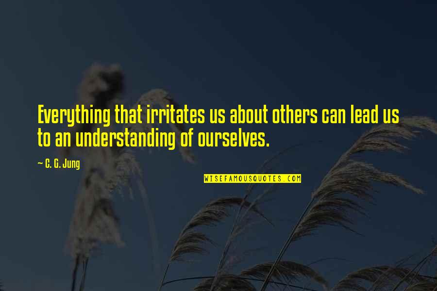 Others Perception Of You Quotes By C. G. Jung: Everything that irritates us about others can lead