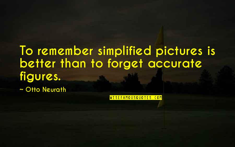 Otto Quotes By Otto Neurath: To remember simplified pictures is better than to