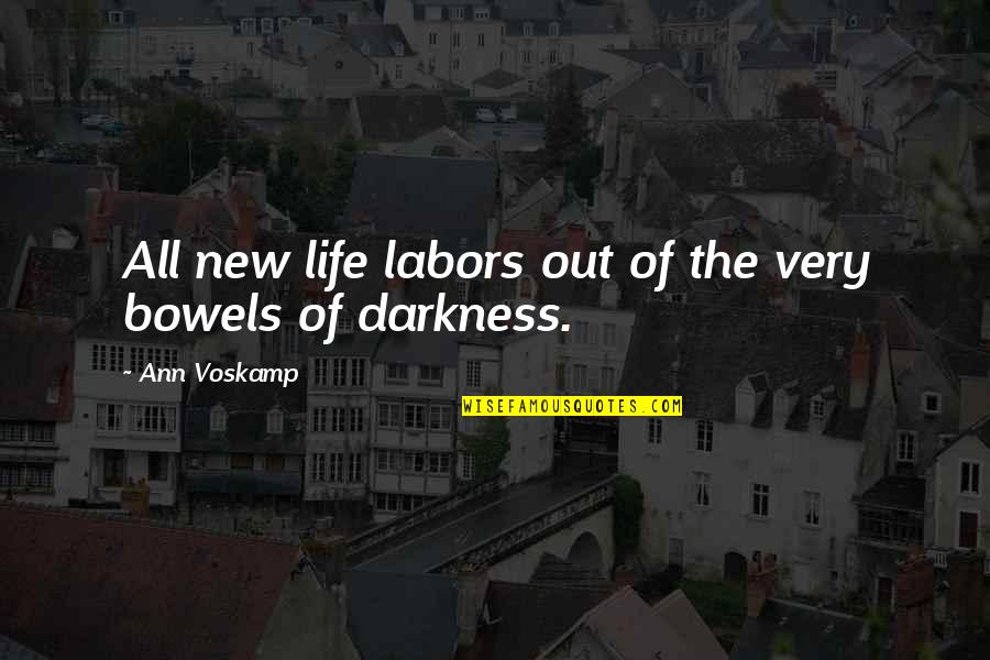 Out Of The Darkness Inspirational Quotes By Ann Voskamp: All new life labors out of the very