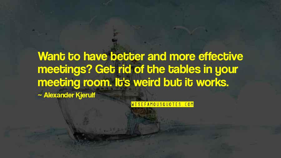 Outlook In Life Quotes By Alexander Kjerulf: Want to have better and more effective meetings?
