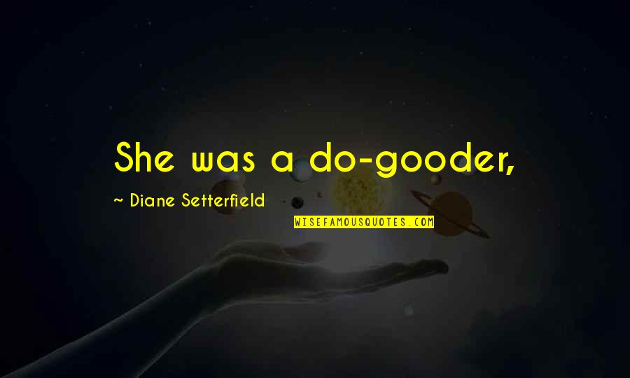 Outraise Quotes By Diane Setterfield: She was a do-gooder,