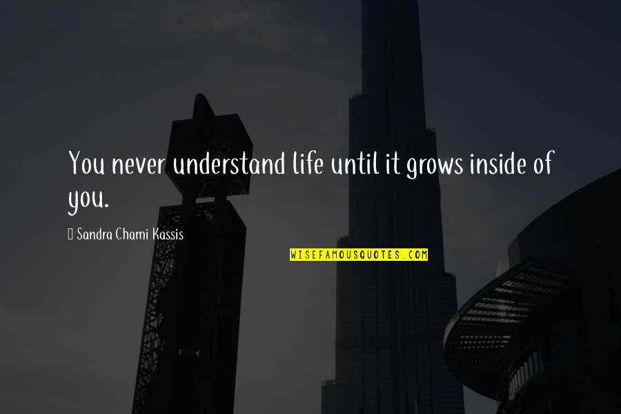 Outskirts Quotes By Sandra Chami Kassis: You never understand life until it grows inside