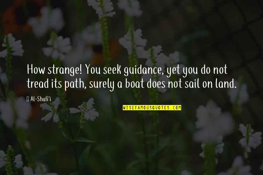 Outstreams Quotes By Al-Shafi'i: How strange! You seek guidance, yet you do