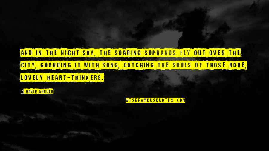 Over Thinkers Quotes By David Arnold: And in the night sky, the soaring sopranos