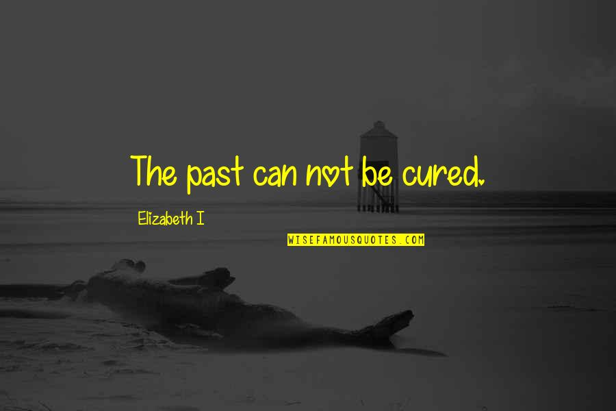 Over Your Past Quotes By Elizabeth I: The past can not be cured.