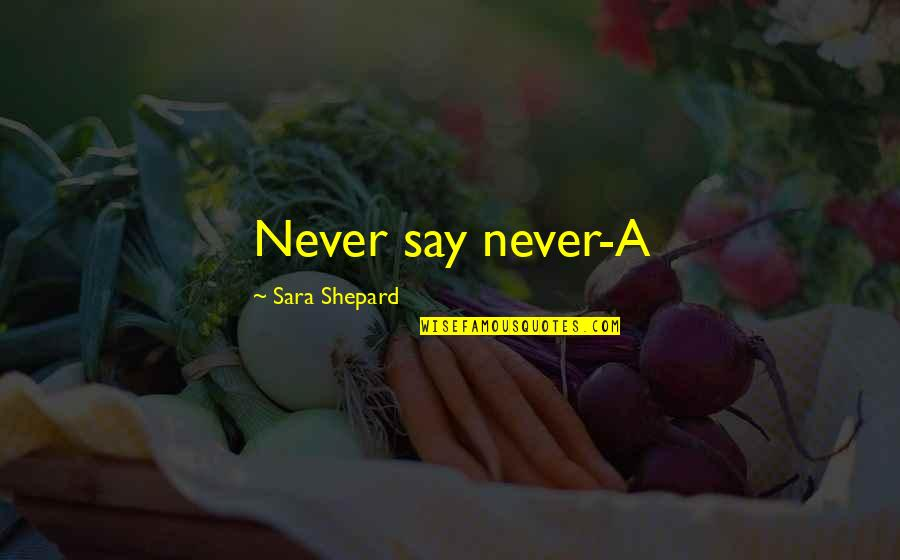 Overcoming Phobias Quotes By Sara Shepard: Never say never-A