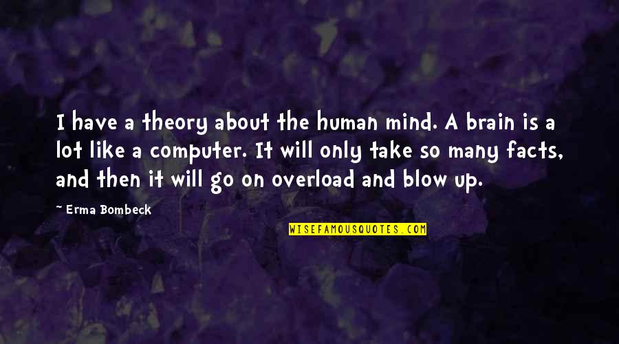 Overload Quotes By Erma Bombeck: I have a theory about the human mind.