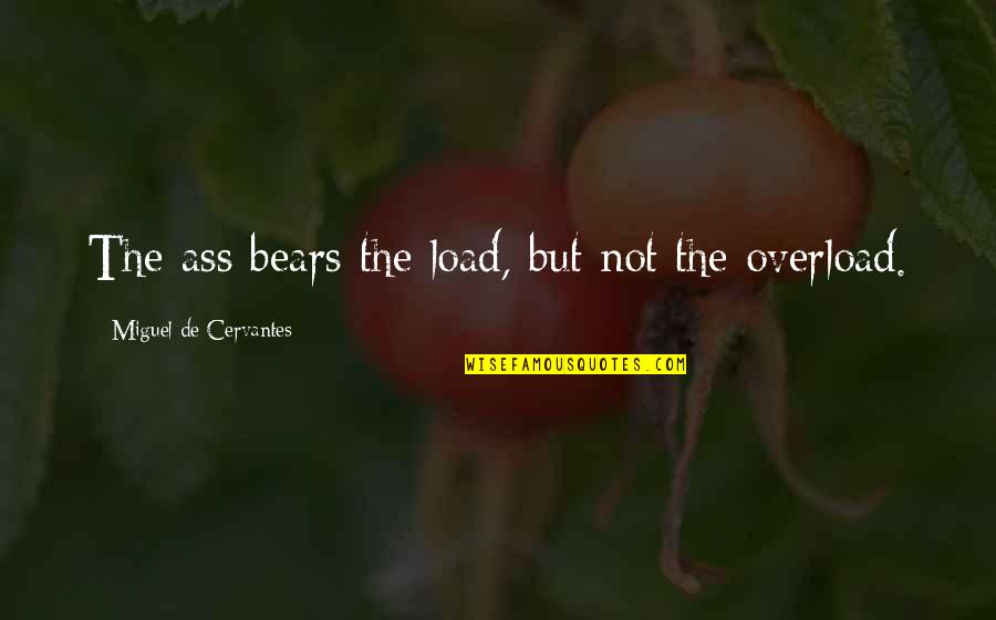 Overload Quotes By Miguel De Cervantes: The ass bears the load, but not the