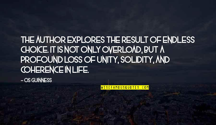 Overload Quotes By Os Guinness: The author explores the result of endless choice.