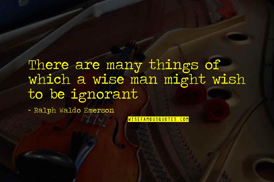 Overload Quotes By Ralph Waldo Emerson: There are many things of which a wise