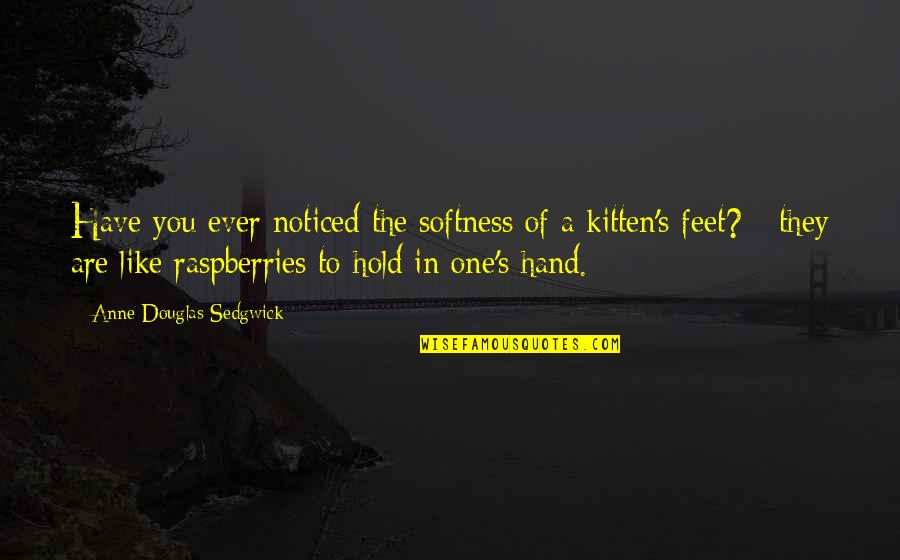 Overly Manly Man Quotes By Anne Douglas Sedgwick: Have you ever noticed the softness of a