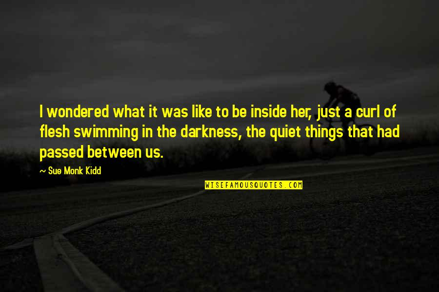 Overprocessed Quotes By Sue Monk Kidd: I wondered what it was like to be