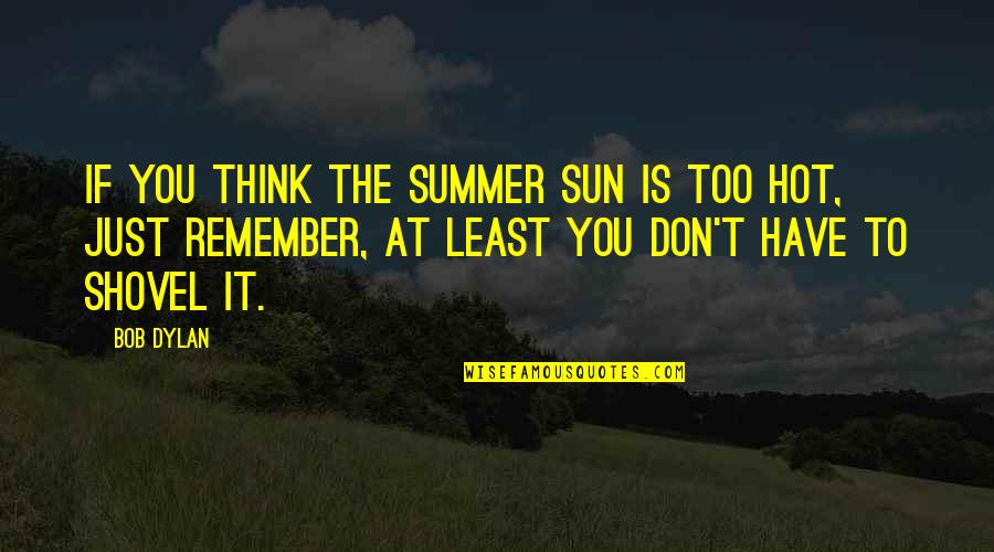 Overthinking Things Tumblr Quotes By Bob Dylan: If you think the summer sun is too