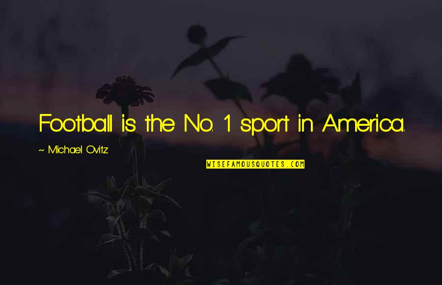 Ovitz Quotes By Michael Ovitz: Football is the No. 1 sport in America.