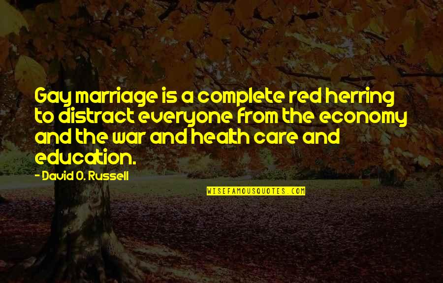 O'wanda Quotes By David O. Russell: Gay marriage is a complete red herring to