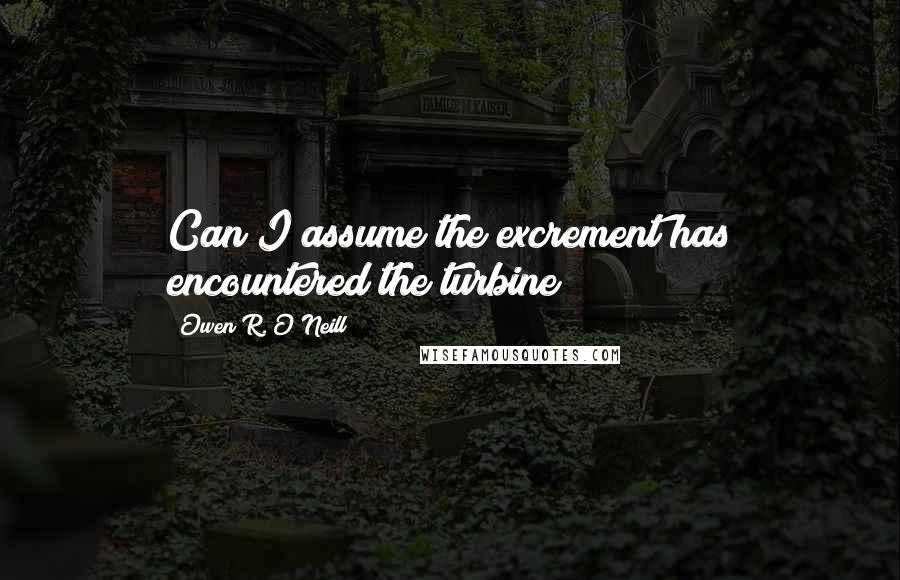Owen R. O'Neill quotes: Can I assume the excrement has encountered the turbine?