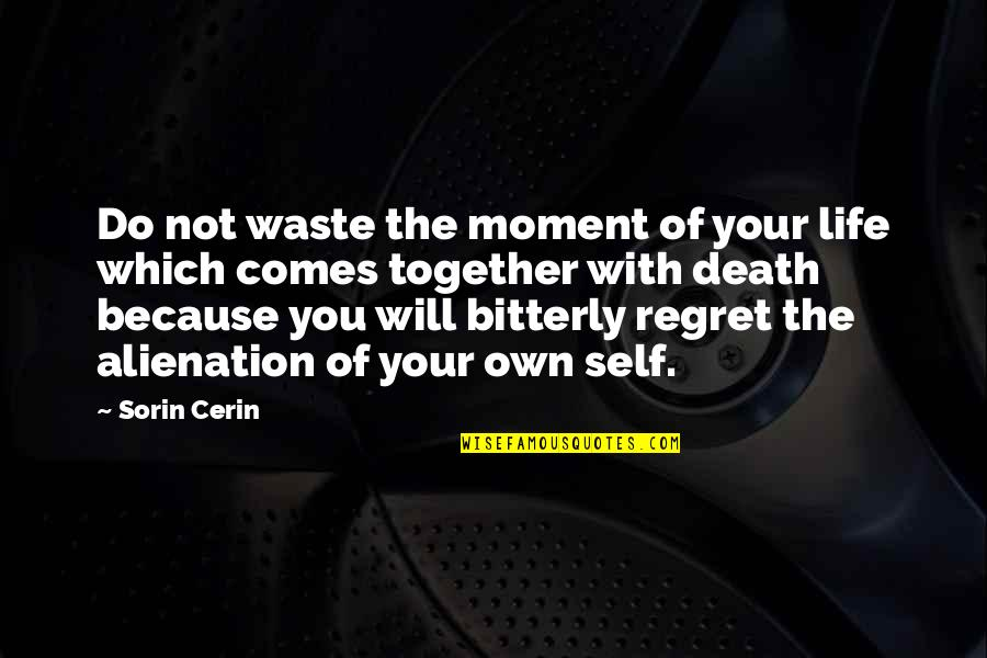Own Life Quotes By Sorin Cerin: Do not waste the moment of your life