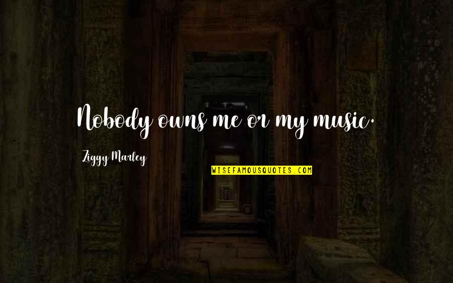 Owns Quotes By Ziggy Marley: Nobody owns me or my music.