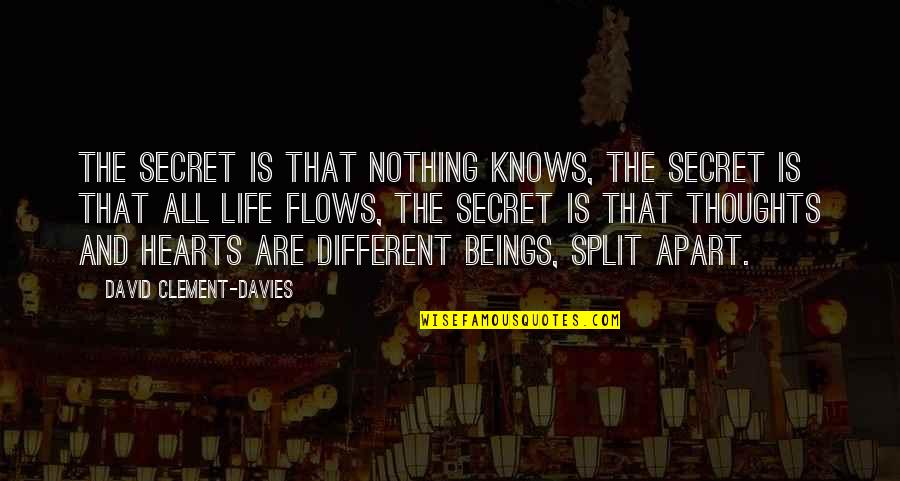 Ownself Quotes By David Clement-Davies: The secret is that nothing knows, the secret