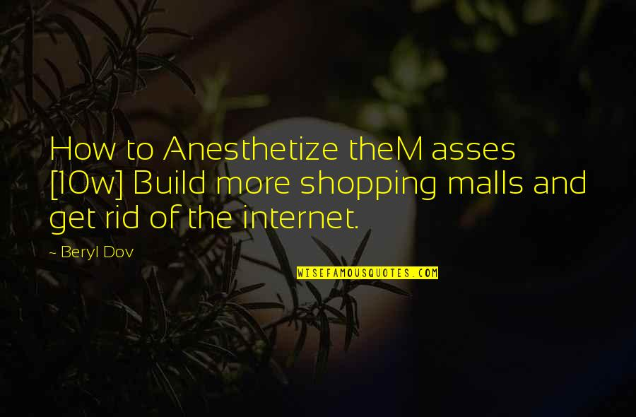 Oxygenated Quotes By Beryl Dov: How to Anesthetize theM asses [10w] Build more