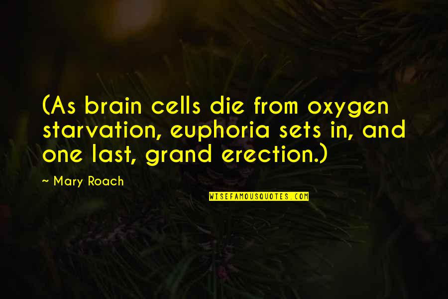 Oxygen's Quotes By Mary Roach: (As brain cells die from oxygen starvation, euphoria