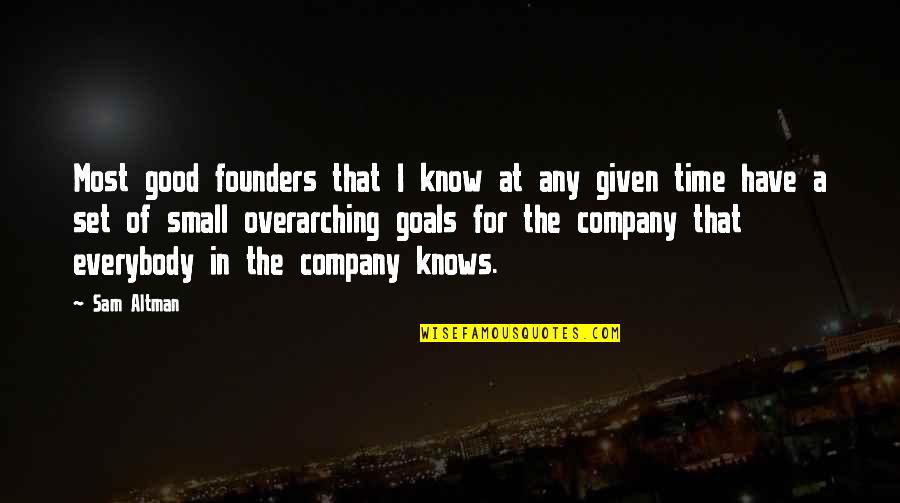 P.e.o. Founders Quotes By Sam Altman: Most good founders that I know at any