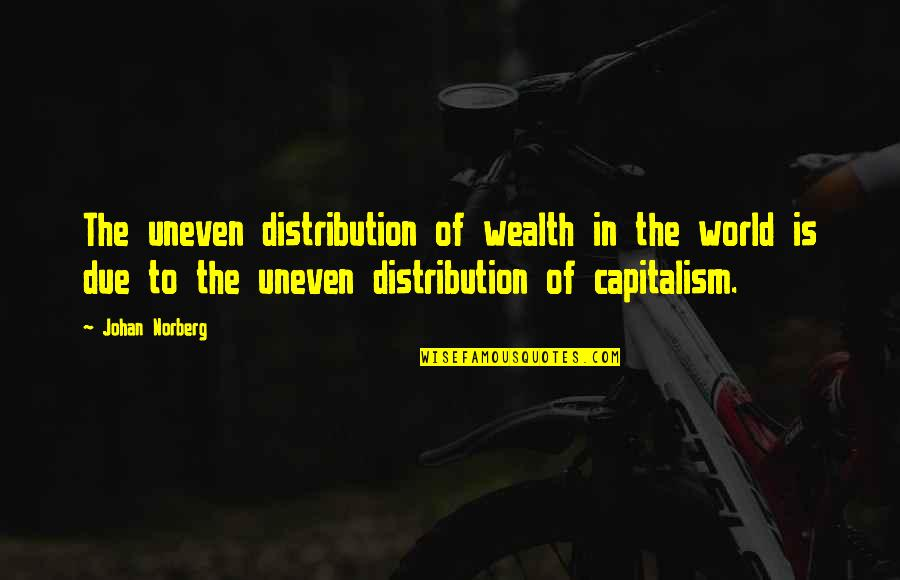Pacific Coffee Quotes By Johan Norberg: The uneven distribution of wealth in the world