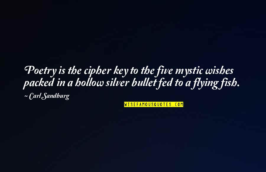 Packed Up Quotes By Carl Sandburg: Poetry is the cipher key to the five