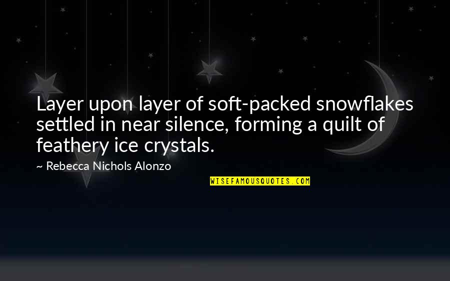Packed Up Quotes By Rebecca Nichols Alonzo: Layer upon layer of soft-packed snowflakes settled in
