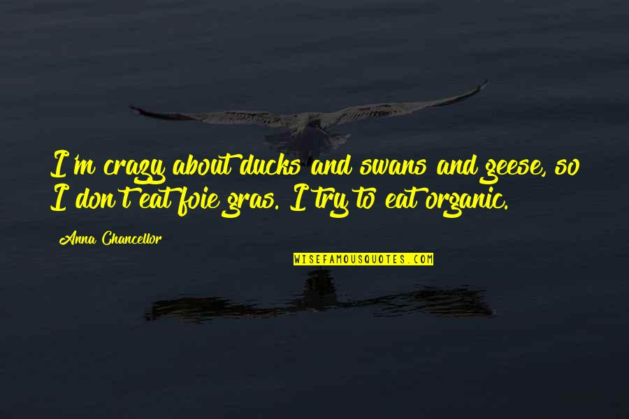 Packing And Leaving Quotes By Anna Chancellor: I'm crazy about ducks and swans and geese,
