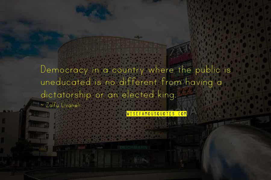 Pacman Mayweather Quotes By Zulfu Livaneli: Democracy in a country where the public is