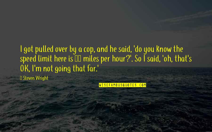 Pag Iisa Tagalog Quotes By Steven Wright: I got pulled over by a cop, and