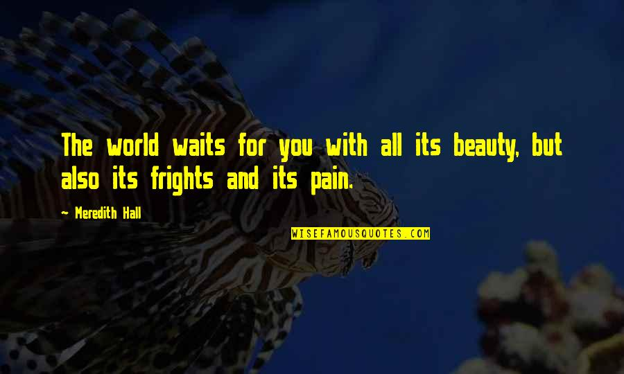 Pain And Beauty Quotes By Meredith Hall: The world waits for you with all its