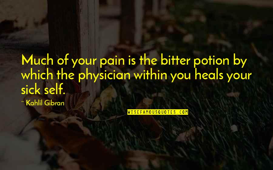 Pain Heals Quotes By Kahlil Gibran: Much of your pain is the bitter potion