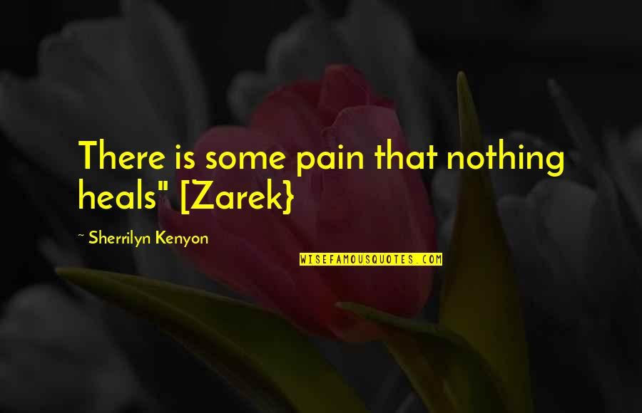"""Pain Heals Quotes By Sherrilyn Kenyon: There is some pain that nothing heals"""" [Zarek}"""