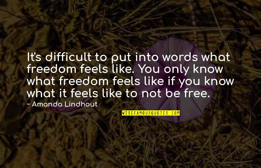Pain U0026 Effort Quotes By Amanda Lindhout: It's difficult to put into words what freedom