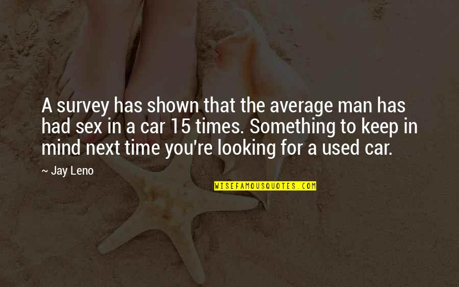 Palanca Quotes By Jay Leno: A survey has shown that the average man