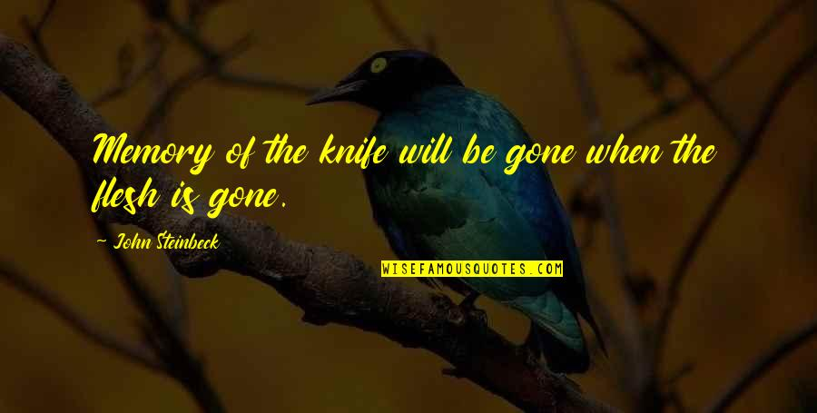 Pale Horse Quotes By John Steinbeck: Memory of the knife will be gone when