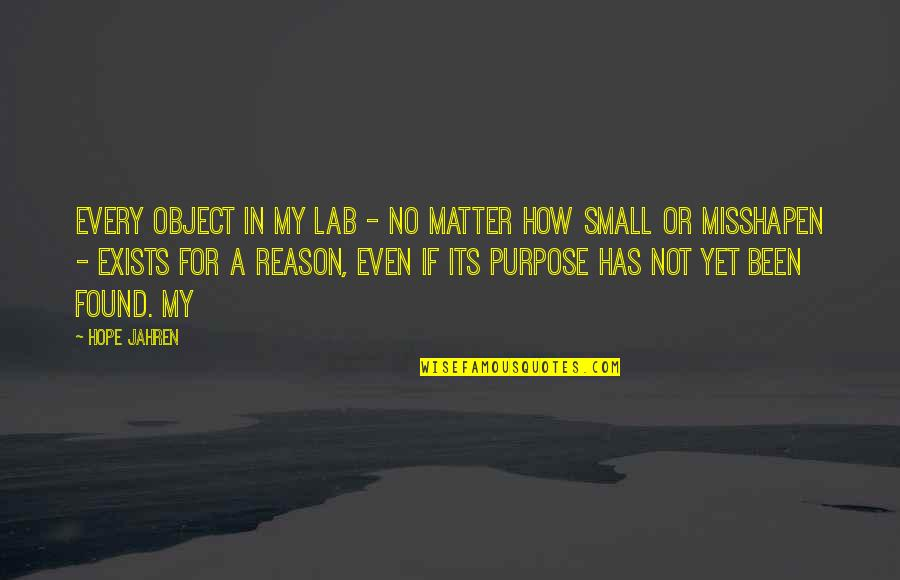 Palestine Nakba Quotes By Hope Jahren: Every object in my lab - no matter
