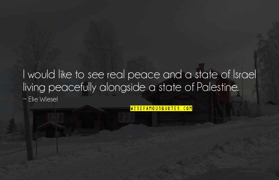Palestine Quotes By Elie Wiesel: I would like to see real peace and