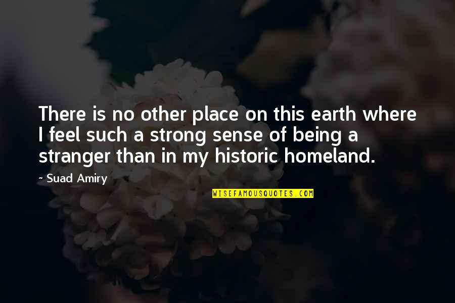 Palestine Quotes By Suad Amiry: There is no other place on this earth
