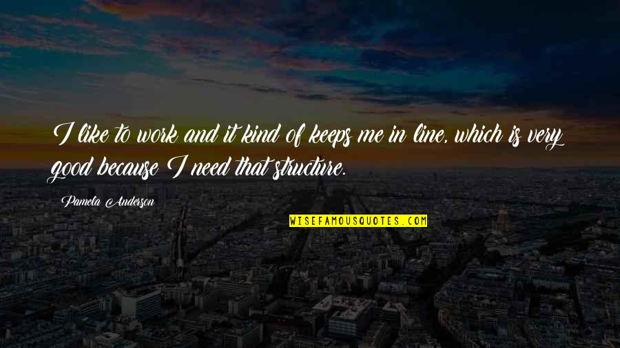 Palm Day Quotes By Pamela Anderson: I like to work and it kind of