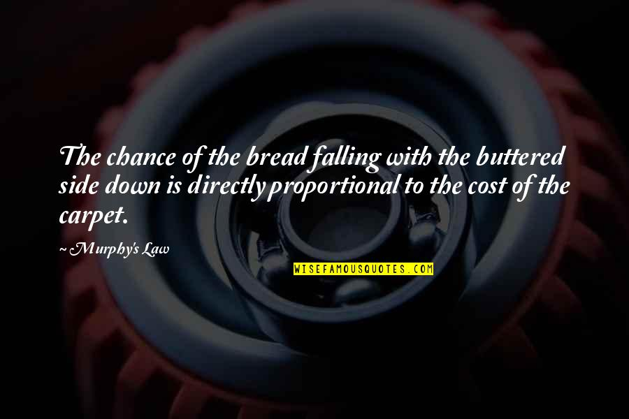 Palpitating Quotes By Murphy's Law: The chance of the bread falling with the