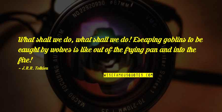 Pan Quotes By J.R.R. Tolkien: What shall we do, what shall we do!