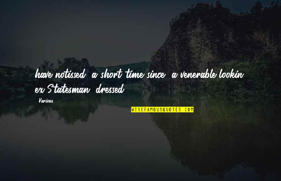 Pandered Quotes By Various: have notissed, a short time since, a venerable